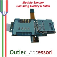 SimCard Modulo Sim Scheda Slot Flat Ricambio Originale Connettore per Samsung Galaxy S I9000 Gt-I9000