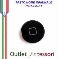 Tasto Pulsante Home Centrale Originale per Apple Ipad Ipad1 1 Nero Black