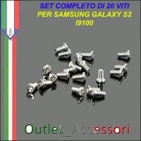 Set Kit Completo 20 Viti vite Assemblaggio per Samsung Galaxy S2 SII GT-I9100 I9100
