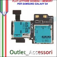 Flat Lettore Sim Scheda Memoria Memory Card Samsung Galaxy S4 I9505 I9500 GT Originale