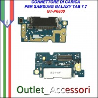Flat Connettore Usb Ricarica Dock per Samsung Galaxy Tab 7.7 P6800 ORIGINALE