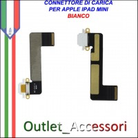 Dock Flat Connettore USB Ricarica Carica Porta per Apple Ipad Mini Bianco