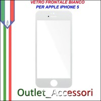 Vetro Lens Glass Schermo Frontale per Apple Iphone 5 5G Bianco White