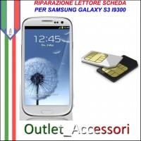 Sostituzione Riparazione Lettore Sim Pista Flat Scheda Rotto per Samsung Galaxy S3 I9300 I9305