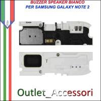 Buzzer Speaker Loudspeaker Chiamata Bianco per Samsung Galaxy Note 2 N7100