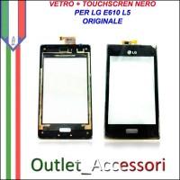 Touch Touchscreen Vetro Ricambio Originale LG L5 E610 Nero con Frame