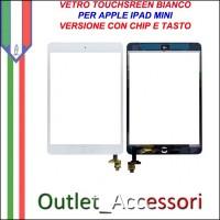 Vetro Touch Touchscreen Schermo per Apple Ipad Mini Bianco con Chip Tasto