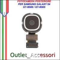 Flat Camera Fotocamera Retro Posteriore per Samsung Galaxy S4 I9500 I9505