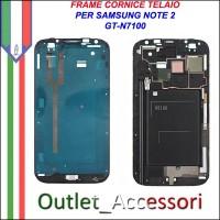 Scocca Housing Telaio Frame Cornice per Samsung NOTE 2 Note2 N7100 GT