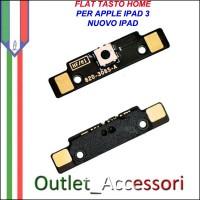 Flat Flex Ricambio Modulo Tasto Home Pulsante per Apple Ipad 3 Ipad3 Nuovo