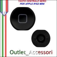 Tasto Pulsante Home Nero Centrale per Apple Ipad Mini Bianco