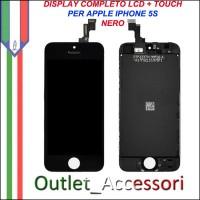 Display Lcd Touch Vetro per Iphone 5s Nero Black Completo Assemblato