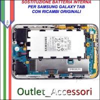 Riparazione Sostituzione Cambio Batteria per Samsung Galaxy Tab P1000 P3100 P5100 P7500 P6200 P6800 P7300