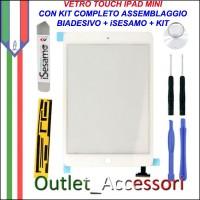 Vetro Touch Touchscreen per Apple Ipad Mini Bianco Kit Smontaggio iSesamo Biadesivo
