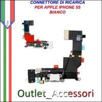 Connettore Flat Carica Ricarica Microfono Apple Iphone 5S BIANCO