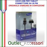 Cavo USB Dati Ricarica Samsung Galaxy Tab 30 pin ORIGINALE ECC1DP0UBECSTD