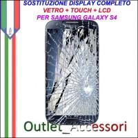 Sostituzione Display Samsung Galaxy S4 I9505 I9500 Lcd Vetro Schermo Rotto Riparazione Cambio Assemblaggio GT-I9505