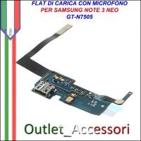 Flat Connettore Usb Ricarica Microfono per Samsung Note 3 Neo N7505