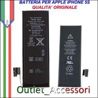 Batteria Pila Apple Iphone 5s Qualità TOP Originale APN 616-0720 0721