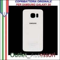 Copribatteria Back Cover Originale Samsung Galaxy S6 Bianco G920F Vetro