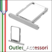Carrello Slot Porta Scheda Sim Nano Samsung Galaxy S6 G920F Bianco
