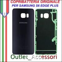 Copribatteria Back Cover Originale Samsung Galaxy S6 Edge Plus Nero Blu G928F Vetro