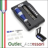 Set Kit Completo Riparazioni Cellulari Tablet Professionale 26 Cacciaviti Tor Ganci Pinze Originale IFIXIT