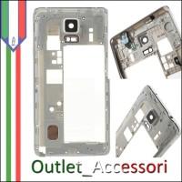 Cornice Laterale Scocca Frame Samsung Note 4 N910F Nera Jack Cuffie Speaker Flat