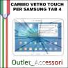 Riparazione Samsung Galaxy Tab 4 SM T530 T535 Sostituzione Cambio Vetro Touch Touchscreen Rotto