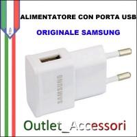Alimentatore Presa di Corrente USB Originale Samsung 1A ETA-0U81EBE Nero