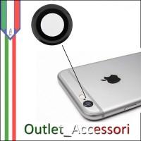 Vetro Vetrino Lente Fotocamera Camera Posteriore NERO Silver Apple Iphone 6S