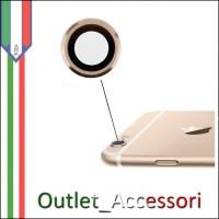Vetro Vetrino Lente Fotocamera Camera Posteriore GOLD ORO Apple Iphone 6S