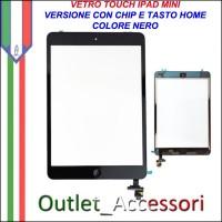 Vetro Touch Touchscreen Schermo per Apple Ipad Mini 2 NERO con Chip Tasto