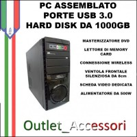 COMPUTER PC DESKTOP ASSEMBLATO AMD QUAD CORE