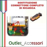 Sostituzione Connettore DOCK Ricarica Microfono per Apple Iphone 3G 3GS