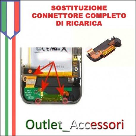 Sostituzione Connettore DOCK Ricarica Microfono per Apple Iphone 3G 3GS