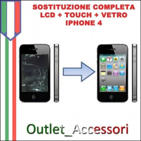 Sostituzione Display Lcd Touch Vetro per Apple Iphone 4