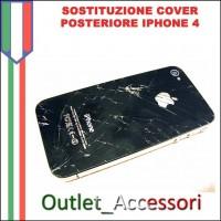 Sostituzione Cover Vetro Scocca Posteriore per Apple Iphone 4