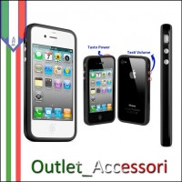 Bumper Custodia Cover per Apple Iphone 4 4s 4g con tasti