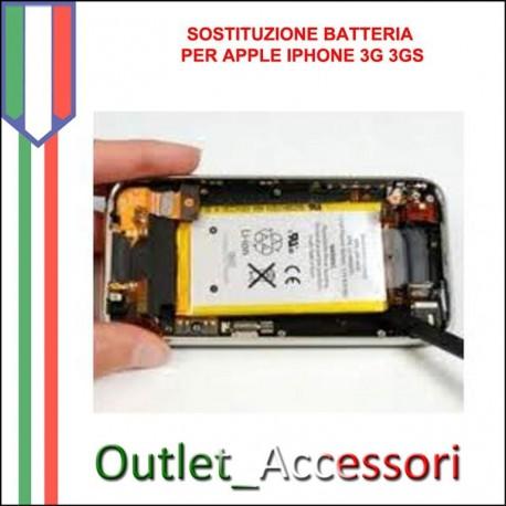 Sostituzione Batteria per Apple Iphone 3G 3GS