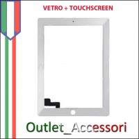 Touchscreen Vetro Ricambio per Apple Ipad Ipad1 Bianco White 3g wifi