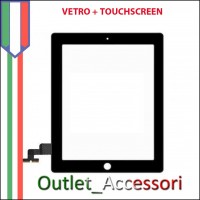 Touchscreen Vetro Ricambio per Apple Ipad Ipad1 Nero Black 3g wifi