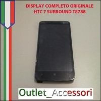 Display Schermo Lcd Touchscreen Vetro Completo Originale per HTC 7 Surround T8788