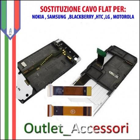 Sostituzione Riparazione Cambio Flat Flex display lcd per Cellulari Nokia Samsung Htc Blackberry Lg Motorola