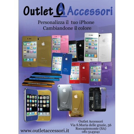 Cambio Colore Conversione Trasformazione Completo Display Cover Tasto Home per Apple Iphone 4