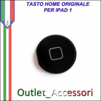 Tasto Pulsante Home Centrale Originale per Apple Ipad Ipad1 1 Nero Black
