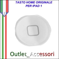 Tasto Pulsante Home Centrale Originale per Apple Ipad Ipad1 1 Bianco White