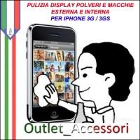 Pulizia Eliminazione Polveri Sporco Macchie Residui Display Vetro Touch Interne Iphone 3g 3gs