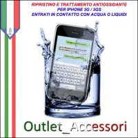 Trattamento Antiossidante e Recupero Iphone 3g 3gs Ossidati Caduti in Acqua Liquidi