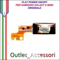 Flat Flex Cavo Ricambio Originale Power Accensione on off per Samsung Galaxy S I9000 Gt-I9000